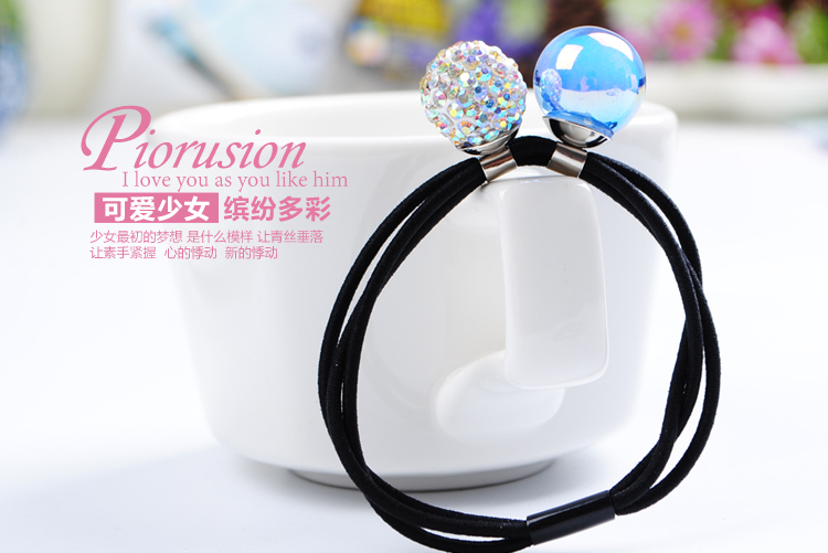 1韩版新款珠子学生发圈