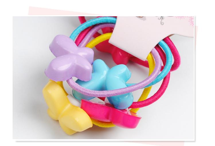 5糖果色儿童发圈